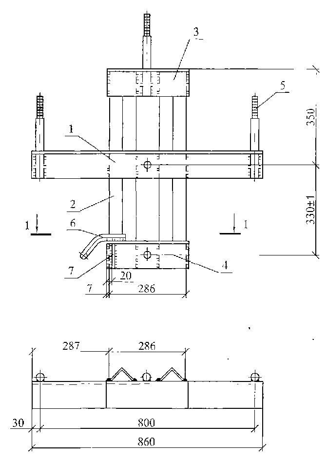 Чертеж траверсы ТМ-105
