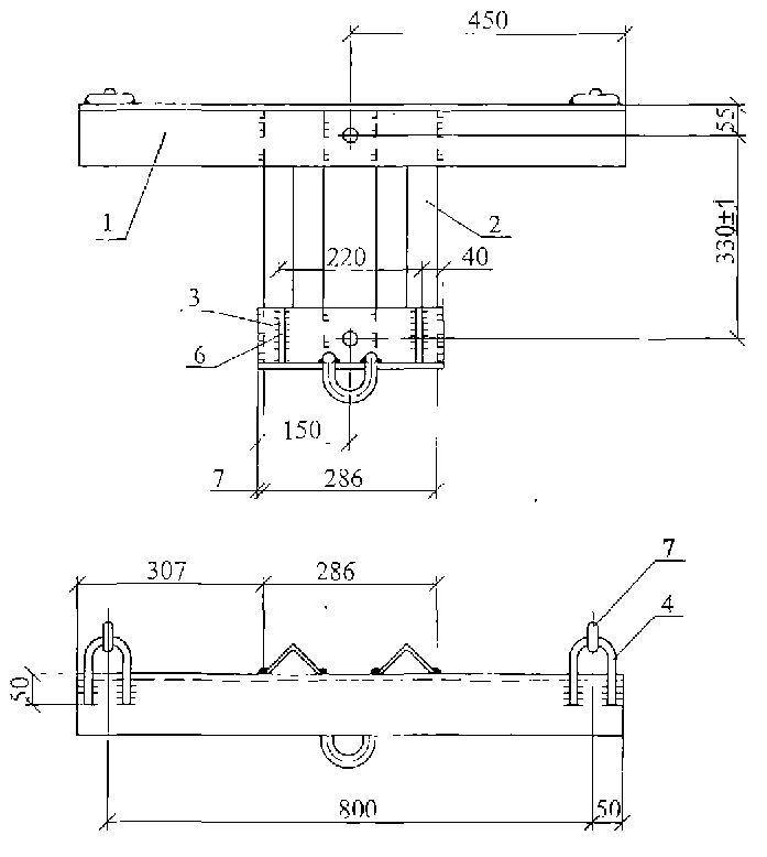 Чертеж траверсы ТМ-109