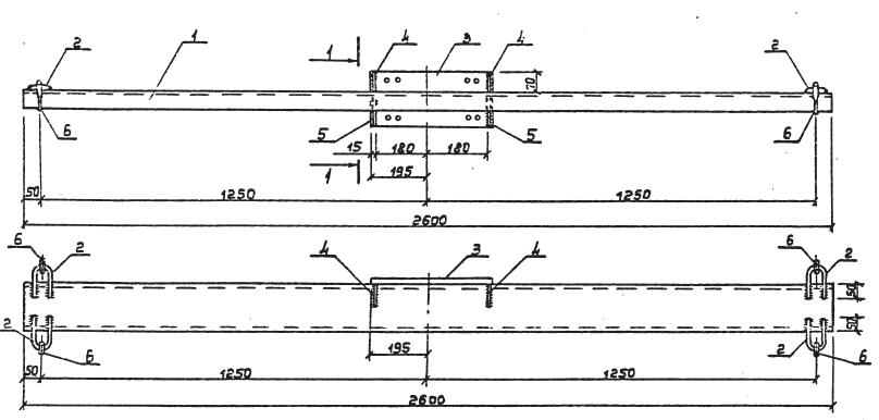 Чертеж траверсы ТМ-20
